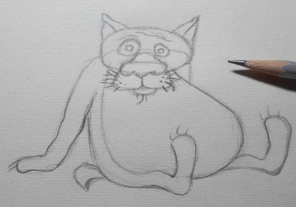Поэтапный рисунок волка из «Жил-был пёс» - шаг 4