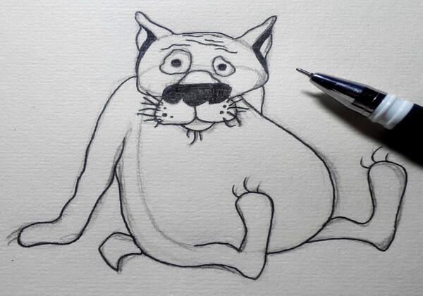 Поэтапный рисунок волка из «Жил-был пёс» - шаг 5