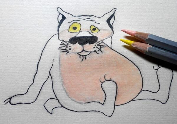 Поэтапный рисунок волка из «Жил-был пёс» - шаг 6