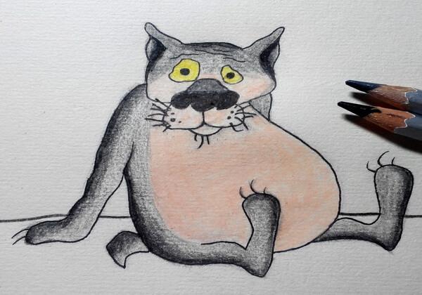 Поэтапный рисунок волка из «Жил-был пёс» - шаг 7