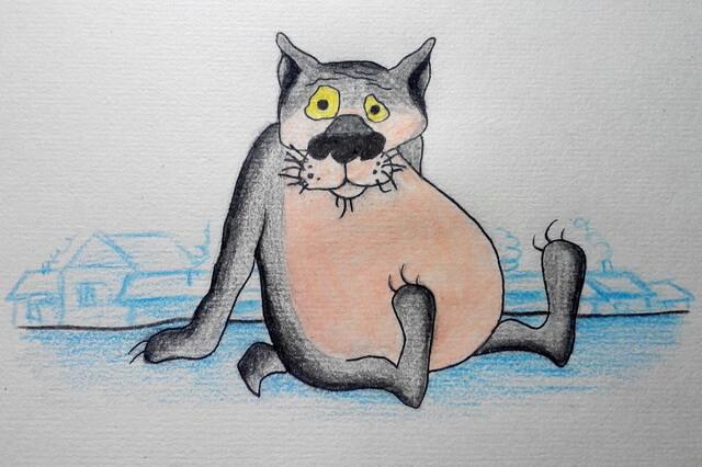 Как нарисовать волка из «Жил-был пёс» - поэтапный урок рисования для начинающих