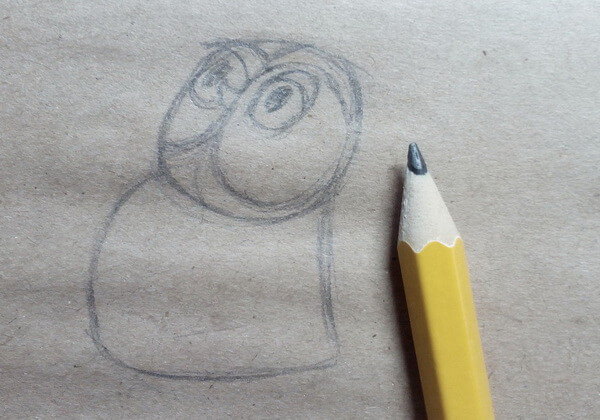 Рисуем поэтапно сову из мультика про Винни-Пуха - шаг 2