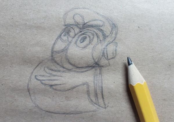 Рисуем поэтапно сову из мультика про Винни-Пуха - шаг 3