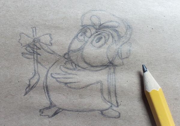 Рисуем поэтапно сову из мультика про Винни-Пуха - шаг 4