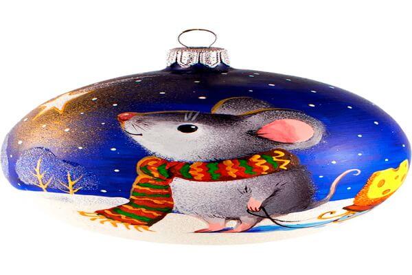 Как сделать ёлочные шары своими руками к году Крысы