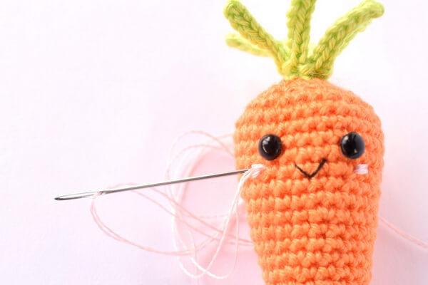Как связать морковку крючком поэтапно
