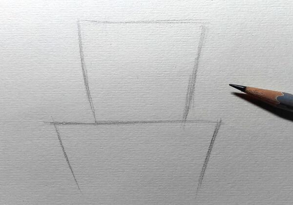 Рисуем капитана Зелёного – героя мультфильма «Тайна третьей планеты» - шаг 1