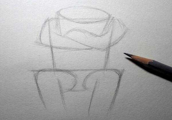Рисуем капитана Зелёного – героя мультфильма «Тайна третьей планеты» - шаг 2