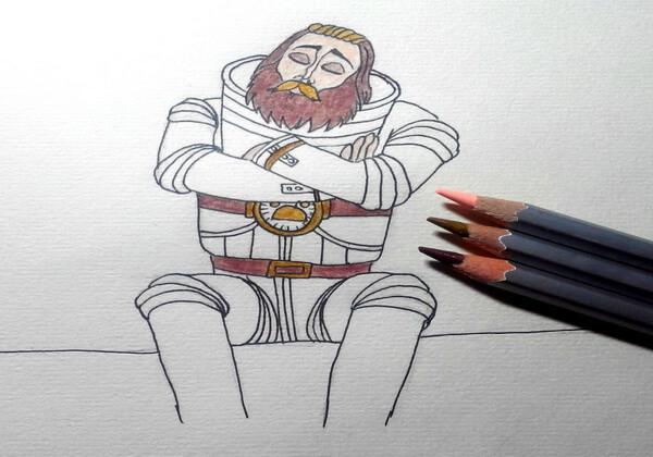 Рисуем капитана Зелёного – героя мультфильма «Тайна третьей планеты» - шаг 7