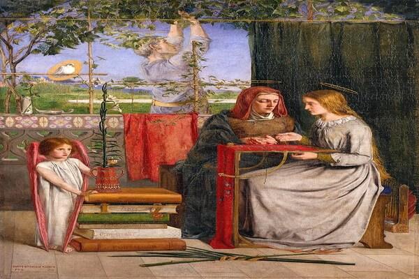 Картины Данте Габриэль Россетти с описанием - «Юность Девы Марии»