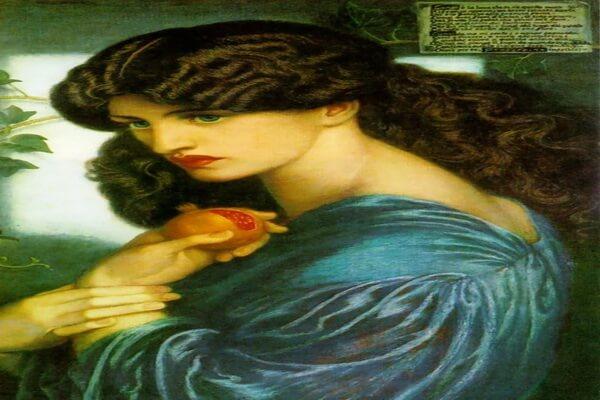 Картины Данте Габриэль Россетти с описанием - «Прозерпина»