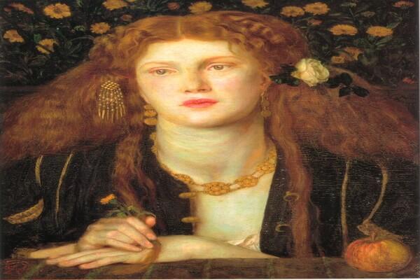 Картины Данте Габриэль Россетти с описанием - «Bocca Baciata»