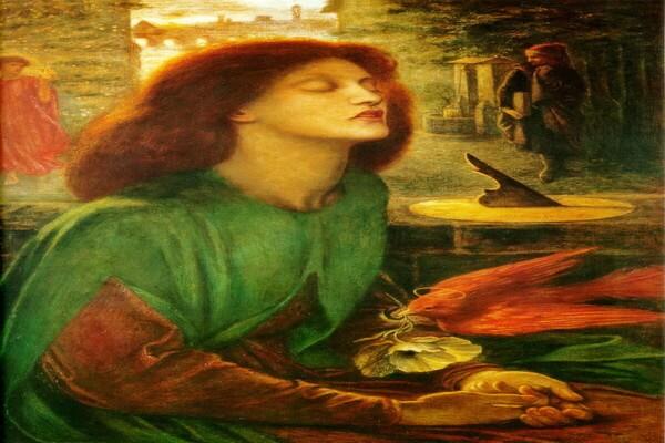 Картины Данте Габриэль Россетти с описанием - «Блаженная Беатриса»