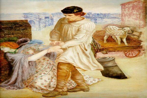 Картины Данте Габриэль Россетти с описанием - «Найденная»