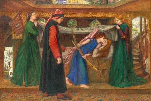 Картины Данте Габриэль Россетти с описанием - «Видение Данте»