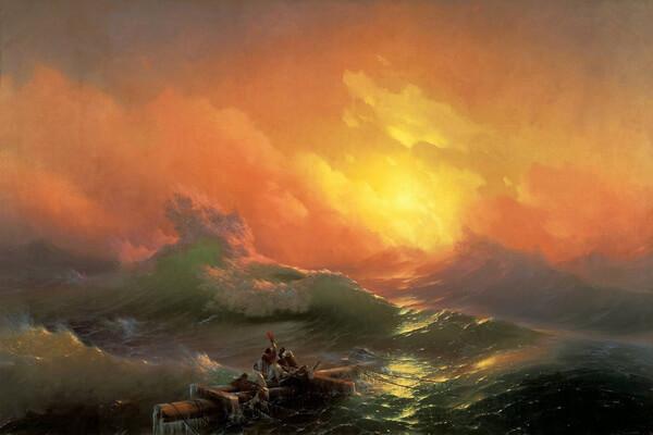Картины моря известных художников с названиями и описанием - Иван Айвазовский — «Девятый вал»