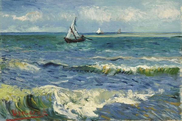 Картины моря известных художников с названиями и описанием - Винсент Ван Гог — «Вид моря близ Ле-Сент-Мари-де-ла-Мер»