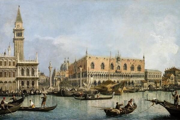 Картины моря известных художников с названиями и описанием - Каналетто — «Вид мола от Бачино ди Сан-Марко»