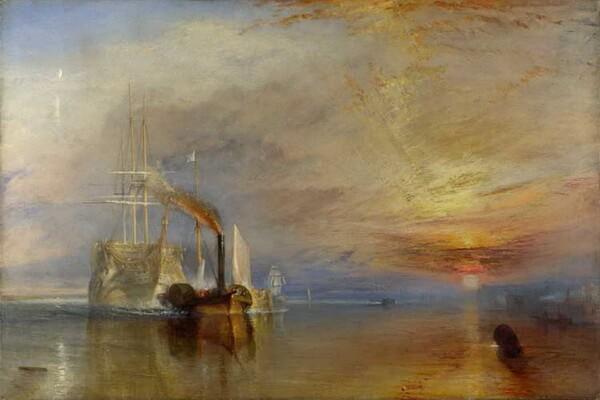 Картины моря известных художников с названиями и описанием - Уильям Тернер — «Последний рейс корабля «Отважный»