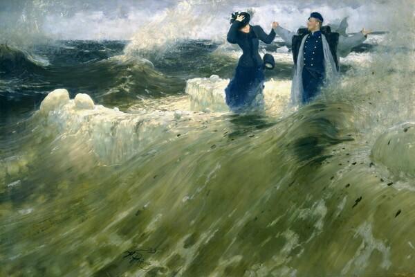 Картины моря известных художников с названиями и описанием - И. Е. Репин — «Какой простор»
