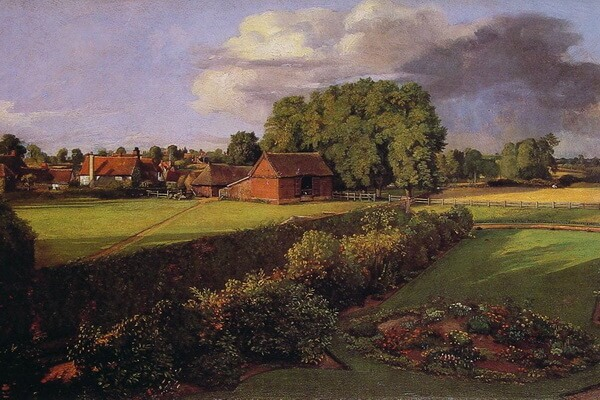 Сады на картинах известных художников - Джон Констебл – «Цветочный сад Голдинга Констебля» (1815)