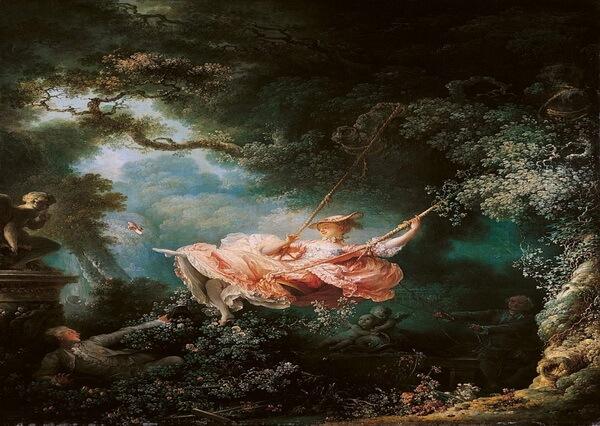 Сады в живописи - Жан-Оноре Фрагонар – «Качели» (1767)