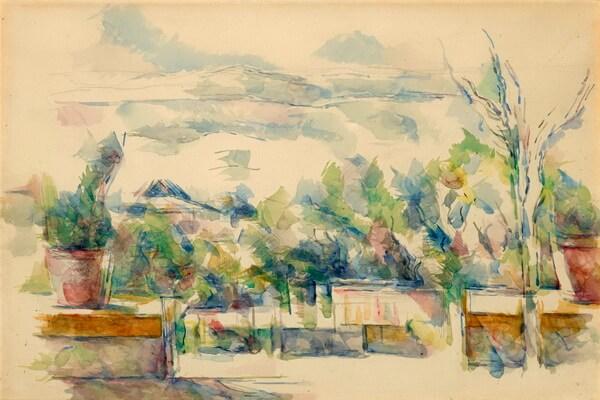 Сады в живописи известных художников - Поль Сезанн – «Сад в Лове» (1906)
