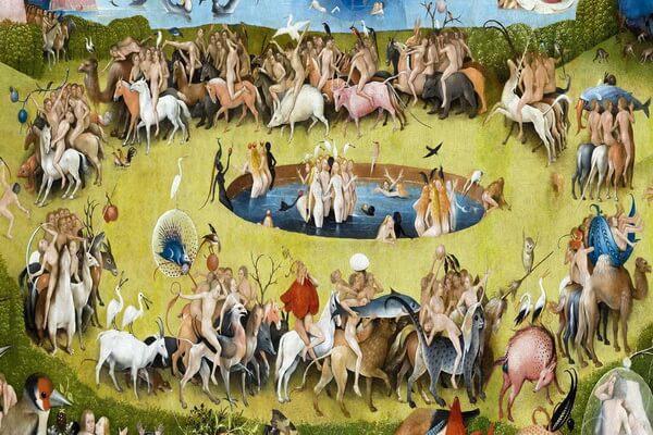 Сады в живописи - Центральная часть триптиха Иеронима Босха - «Сад земных наслаждений»