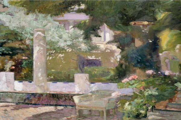 Картины сада известных художников - Хоакин Соролья-и-Бастида – «Сады в семейном доме Сороллы» (1920)