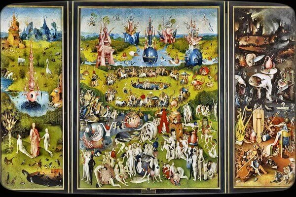 Сады в живописи - Триптих Иеронима Босха