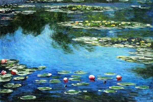 Сады в живописи известных художников - Водяные лилии Клода Моне