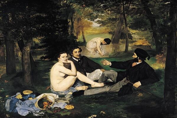 Сады в живописи известных художников - Эдуард Моне – Завтрак на траве (1862-1863)