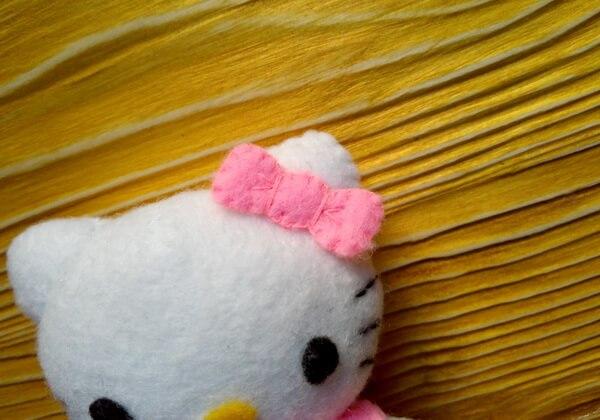 Хеллоу Китти - кошечка из фетра своими руками пошагово - шаг 34
