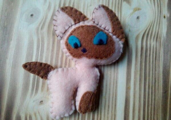 Котёнок Гав из фетра пошагово - шаг 17