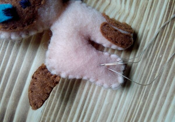 Котёнок Гав из фетра пошагово - шаг 18