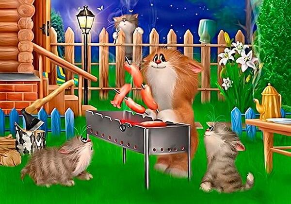 Художник Алексей Долотов и его коты