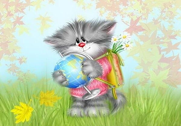 Милые котики на рисунках Алексея Долотова