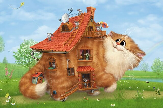 Забавные коты художника Алексея Долотова