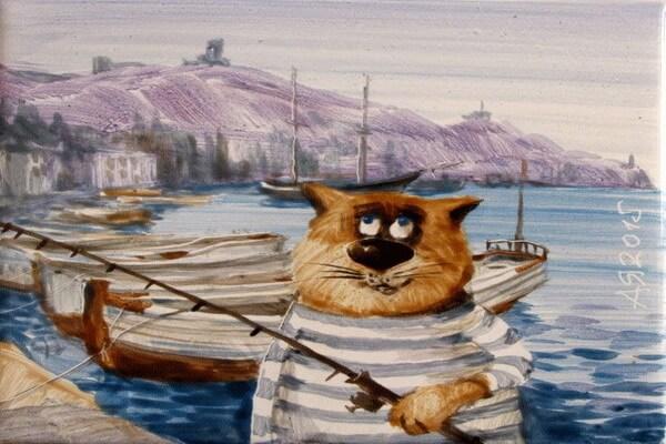 Картины с котами Анатолия Ярышкина