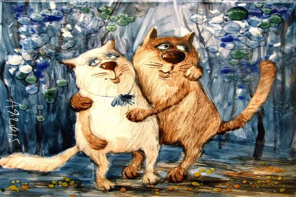 Влюблённые котики Анатолия Ярышкина