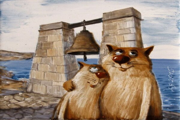 Забавные коты художника Анатолия Ярышкина