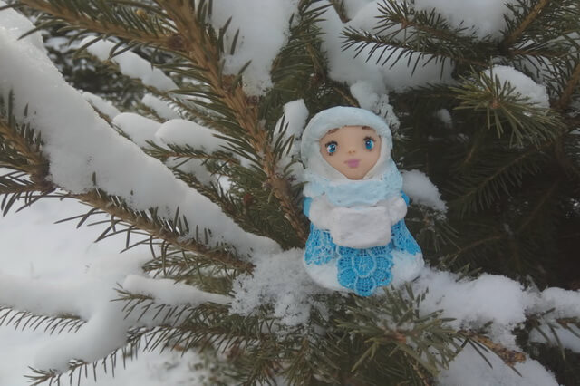 Снегурочка своими руками мастер класс из папье маше 54