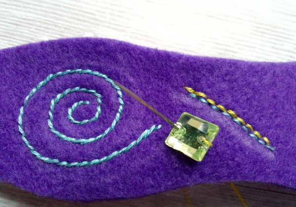 Красивый браслет из фетра своими руками пошагово - шаг 10