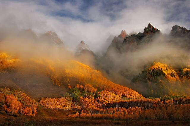Красивые осенние пейзажи гор