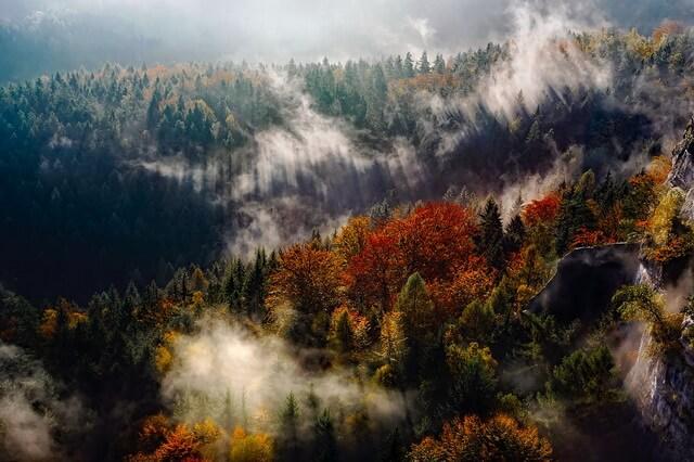 Осень в горах - Красивые осенние пейзажи для вдохновения