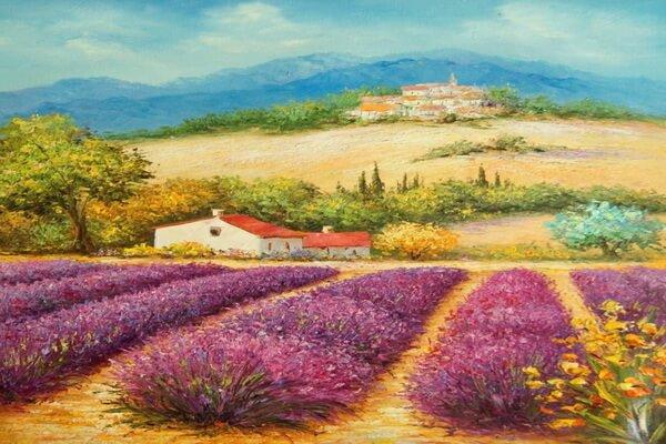 Лавандовые поля в живописи Руслана Смородинова