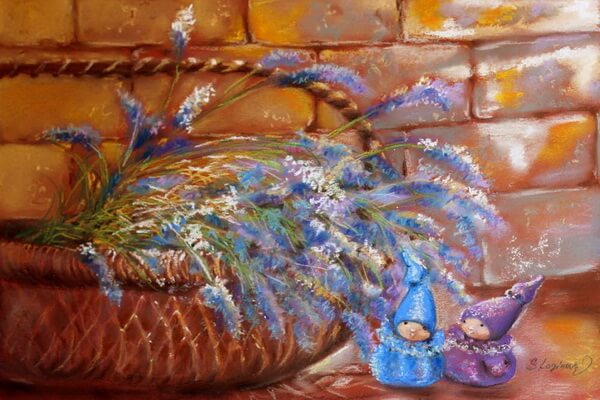 Лаванда в живописи Светланв Логиновой