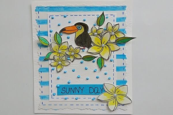 Красивая летняя открытка своими руками - мастер-класс для начинающих