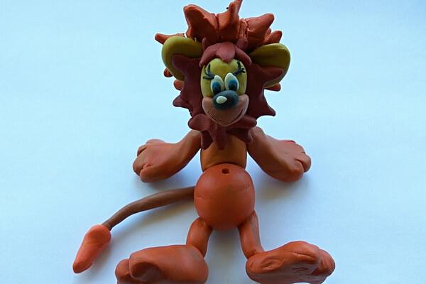 Как слепить льва из пластилина поэтапно - шаг 9