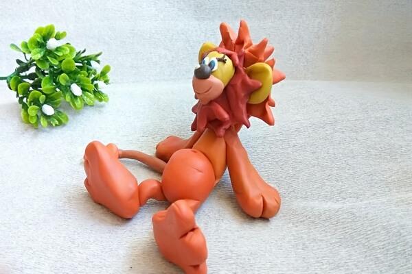 Лев из пластилина поэтапно - мастер-класс для детей